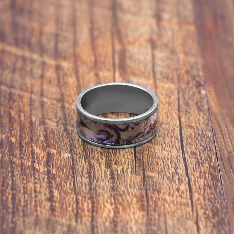 10mm 316L Stainless Steel shells Ring For Man Titanium Steel Man's High Polished Man's Fashion Ring