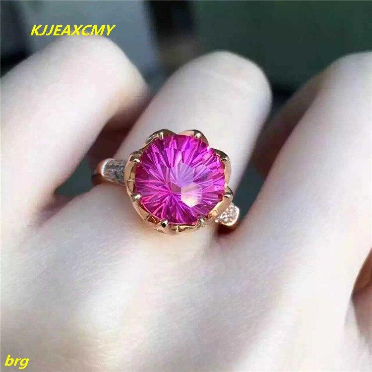 KJJEAXCMYปรับเครื่องประดับFineสีชมพูคอรันดัมราชินีแหวน925เงินสดแหวนแหวนเพิ่มขึ้นแหวนผู้หญิงทอง-ใน ห่วง จาก อัญมณีและเครื่องประดับ บน AliExpress - 11.11_สิบเอ็ด สิบเอ็ดวันคนโสด 1