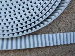 Image 3 - 5 meters HTD5M timing belt  Width 15 20 30mm Color White PU Polyurethane with steel core HTD 5M open ended belt Pitch 5mm Pulley