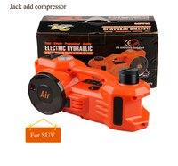 무료 배송 2 기능 suv 리프트 용 전기 유압 잭 및 팽창 펌프