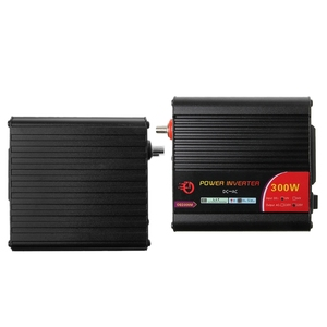 Image 4 - 300 واط عاكس الطاقة محول تيار مستمر 12 فولت إلى 220 فولت التيار المتناوب السيارات العاكس مع معدِّل سيارة
