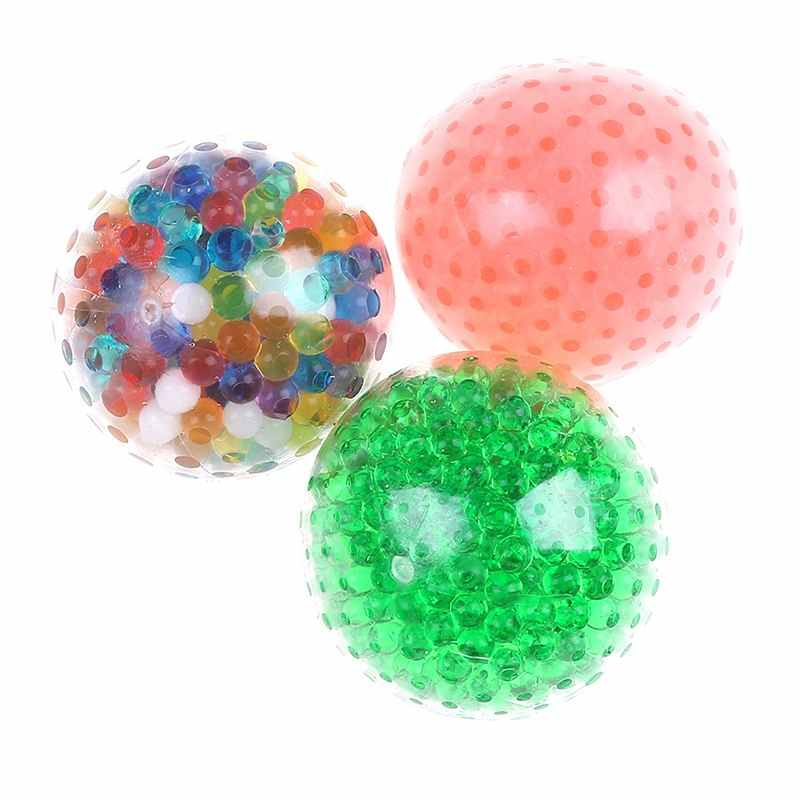 التوحد/ADHD لعبة لتخفيف الضغط اسفنجي الضفدع الخرزة هلام الإجهاد الكرة تململ الحسية أداة الساخن