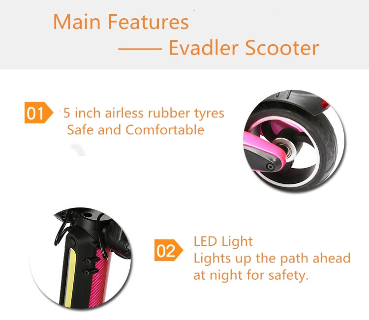 Evadler Xiao scooter roller skate kick electric scooter Hot scooter best sale