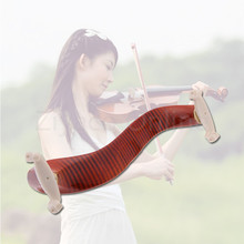 High Quality Exquisite Comfort Violin Shoulder Rest Wood Maple Fit 3/4 4/4 Fiddle Violin with Cleaning Cloth Violin Protect