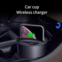 KISSCASE Car QI Wireless Charger For iPhone X XR Xs Max 8 Plus Car Cup Fast Charging Quick Charger For Samsung S10 S9 S8 Plus