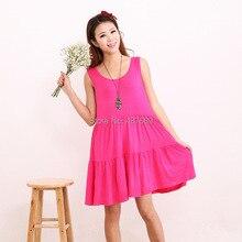 Womens new high quality soft and comfortable cotton modal loose sleeveless vest dress big pendulum