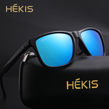 Sunglasses for men women polarized square sun glasses vintage retro punk UV400 luxury brand designer black blue lens shades 2019