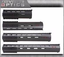 Ultra Lumière Tactique Fiber De Carbone Fusil Carabine Longueur 7 10 12 15 pouce Avant-Bras Handguard Picatinny Portée Rail Mount Support