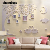 Romantic Moon Design Wall Hanging Photo Frame 6 pcs/set Photo Frames Set With Wall Decoration Wooden Picture Frames Combination