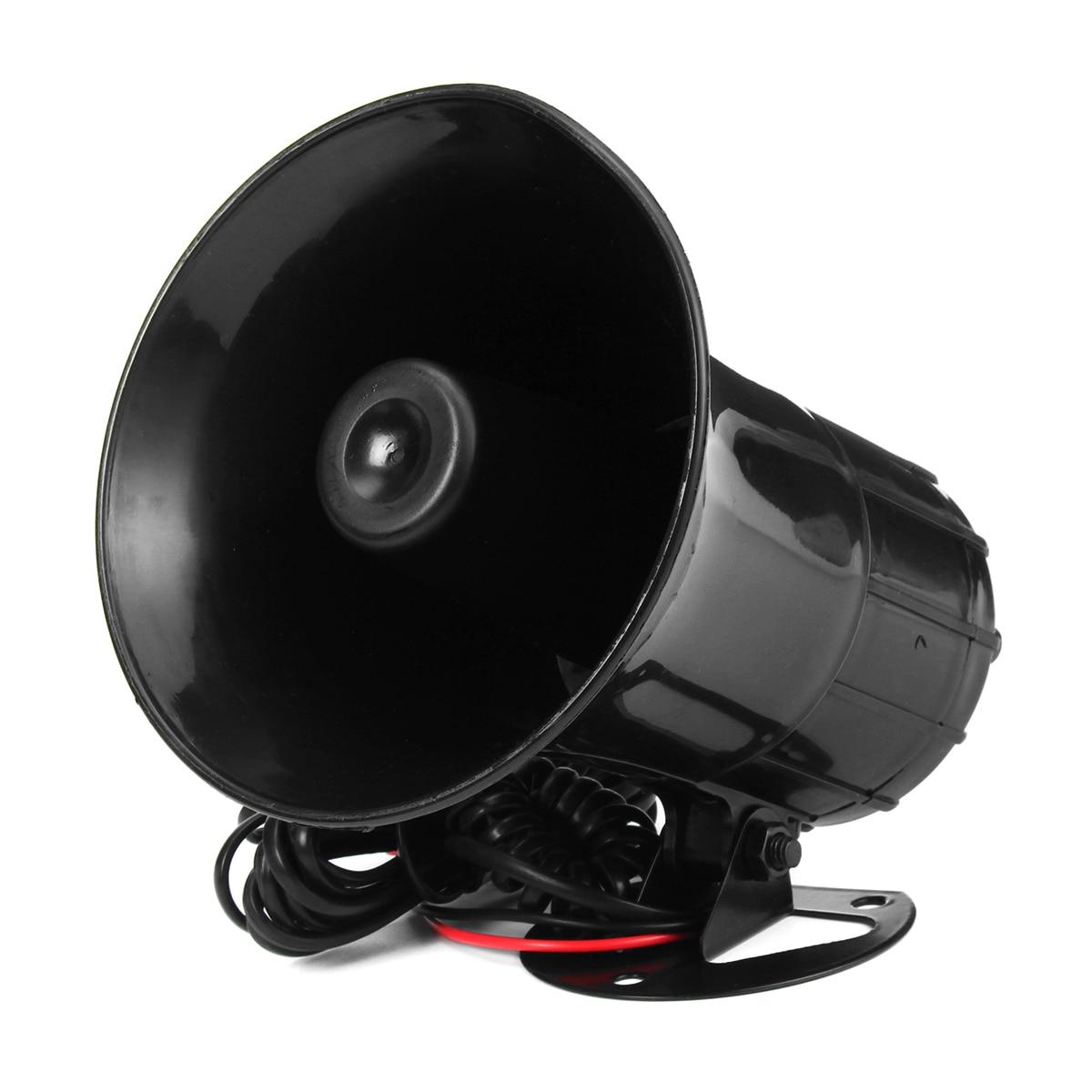 7 Sound 12V Universal Car Alarm Loud Horn Warning Alarm police Fire Siren Car Alarm Loud Speaker 30W/50W/100W