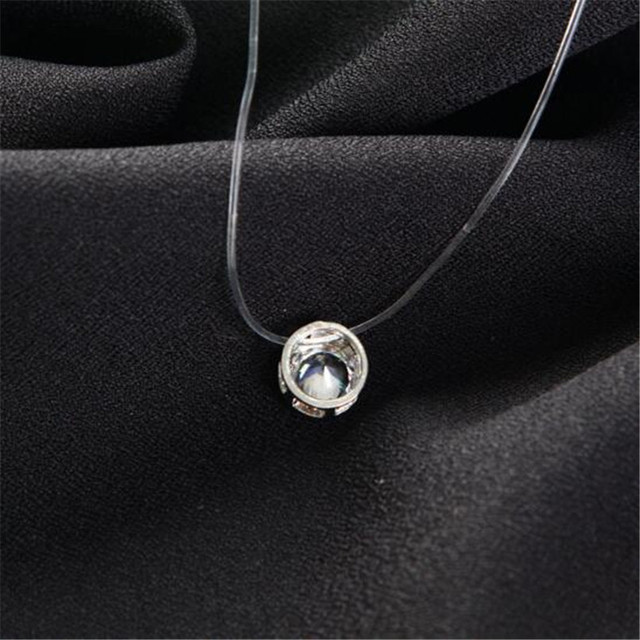 Ahmed Simple Transparent Thin Lines Rhinestone Pendant Tattoo Choker Necklace For Women Charm Fashion Collar Bijoux Jewelry 4