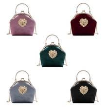Высококачественная Женская бархатная сумка винтажная вечерняя