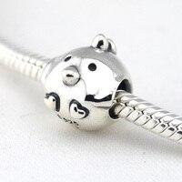 Chicken Silver Charm Authentic 925 Sterling Silver DIY Beads Fits European Pandora Bracelet Bangle Women Jewelry