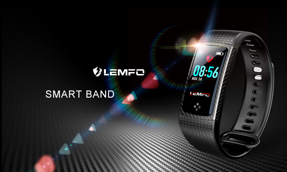 LEMFO LT01 Fitness Bracelet Wristbands  Color LCD Screen Smart Band IP67 Waterproof Fitness Bracelet Heart Rate Monitor Ativity Tracker (11)