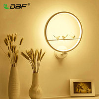 DBF LED Wall Lamp LED Sconce Light Art Bird 19W Modern Home Decoration Wall Light
