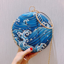 Angelatracy 2019 New Arrival Chinese Style Cheongsam Vintage Classical Hanfu Circular Evening Crossbody Bag Day Clutch Hand Bags