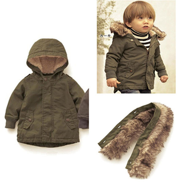 6c5b1da73 New Design 2015 Baby Boys Winter Jackets  Coat Fur Hooded Newborn ...