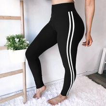 US $4.62 30% OFF|Black High Waist Women Leggings Fitness Patchwork Legging White Binding High Elastic Workout Leggins Female Push Up Trousers-in Leggings from Women's Clothing & Accessories on Aliexpress.com | Alibaba Group