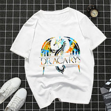 2019 Dracarys Mens T-Shirt  Game of Thrones Mother Of Dragons TShirt For Men Daenerys Harajuku Vintage Casual Cotton streetwear