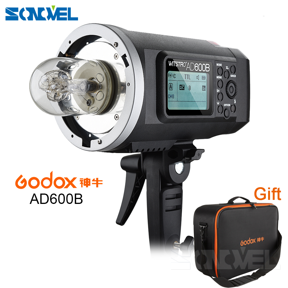 FREE DHL Godox Wistro AD600B TTL All-in-One Powerful Outdoor Flash with 2.4G X System Build-in 8700mAh Li-on Battery цена