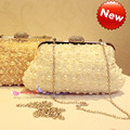 2016 Time-limited Pocket Small(20-30cm) Flower Pearl Rhinestone New Arrival Sweet Women Day Clutch Bridal Bag Bridesmaid Banquet