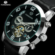 2016 FORSINING luxury brand men tourbillion Mechanical automatic self  wind fashion casual business watches genuine Leather band