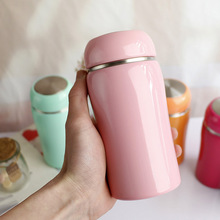 250ML/350ML Candy Color Child Thermo Mug Stainless Steel Vacuum Flasks Thermoses Women Insulated cup