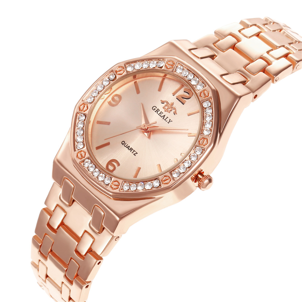New Creative Women Watches Luxury Rosegold Quartz Ladies Watches Relogio Feminino Mesh Band Wristwatches Reloj Mujer