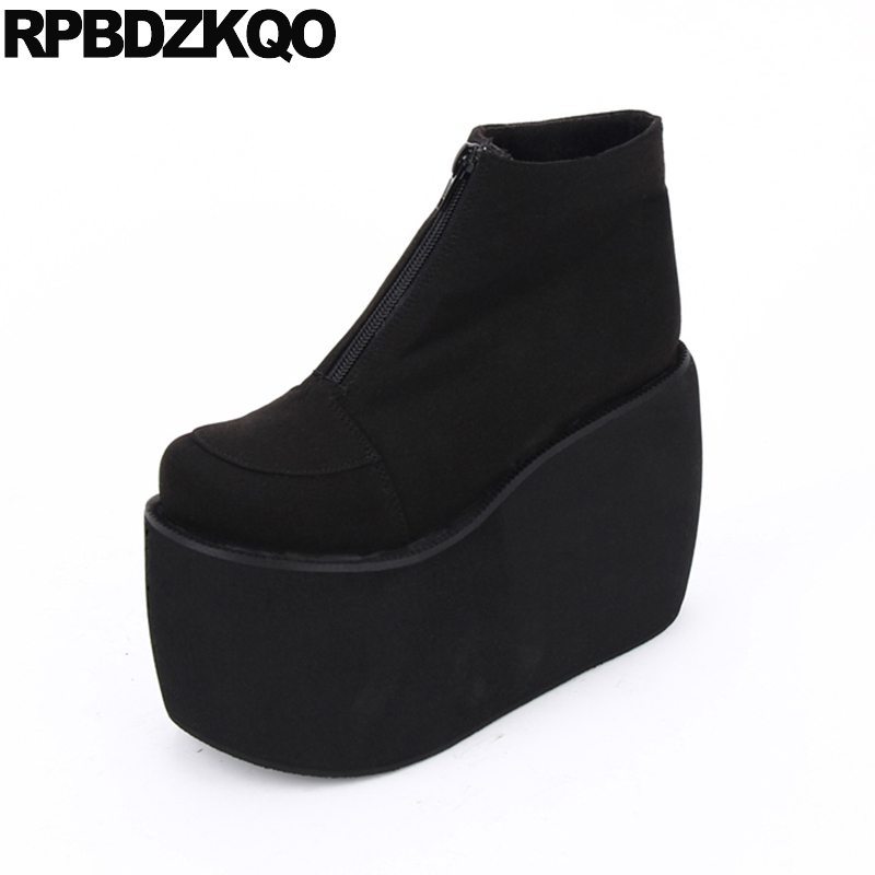 Здесь продается  Plus Size 12 44 Zipper 10 Big Fetish Comfortable Flat Fashion Muffin Black Autumn Women Ankle Boots 2016 Round Toe Female New  Обувь