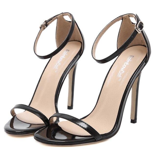 2016 zapatos de las mujeres marca ZA R tacones altos sandalias de la boda de la bomba zapatos de tacón alto atractivos del partido T etapa de charol zapatos de boda