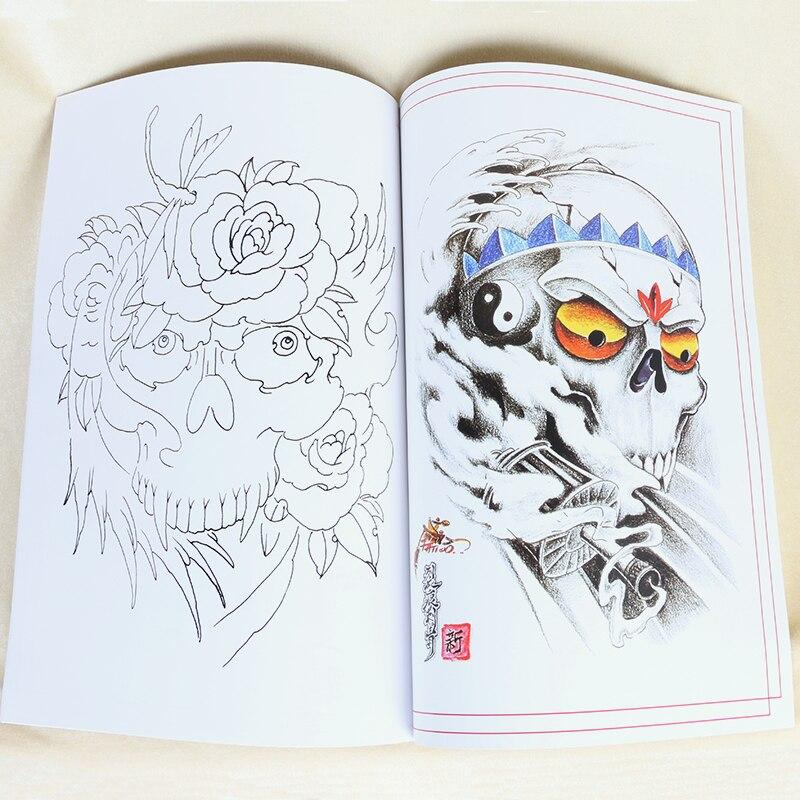 Us 290 Populaire Tattoo Boek Chinese Traditionele Patronen A3 Formaat Tattoo Flash Boek Tb2135 In Tatoeagetoebehoren Van Schoonheid Op