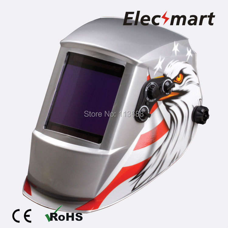 American eagle auto darkening welding helmet TIG MIG MMA electric welding mask/helmet/welder cap/lens for welding fire flames auto darkening solar powered welder stepless adjust mask skull lens for welding helmet tools machine free shipping