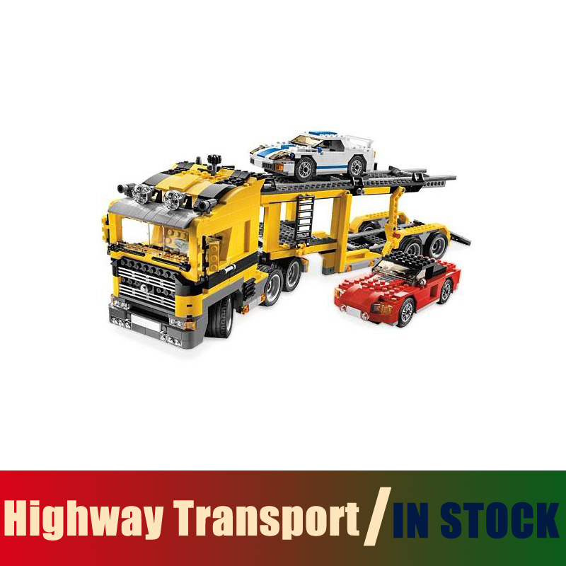 Compatible Lego creator Technic Models Building Toy 3 in 1 Highway Transport 1344pcs 24011 Building Blocks Toys & Hobbies compatible with lego technic creative lepin 24011 1344pcs 3 in 1 highway transport building blocks 6753 bricks toys for children
