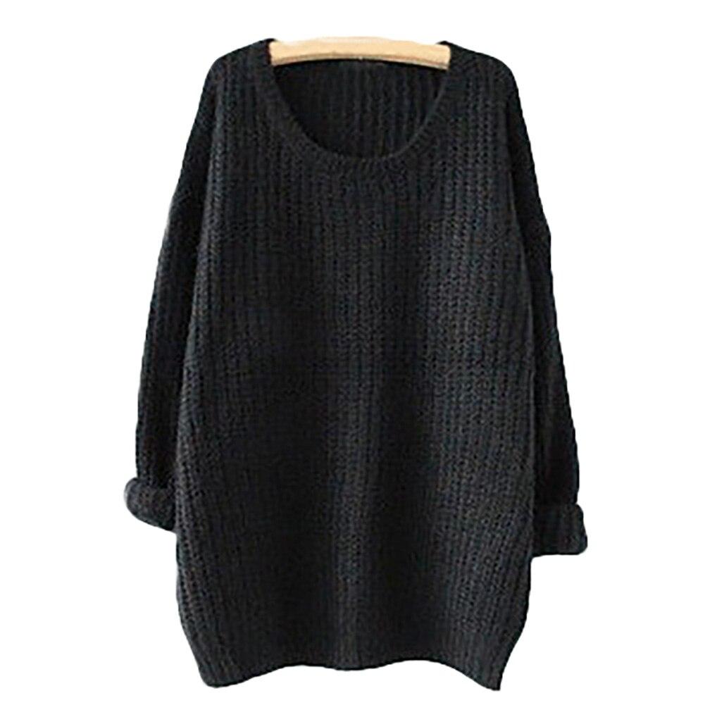 2017 la Primavera y El Otoño Sección Larga De Gran Tamaño Floja Del Suéter de Co