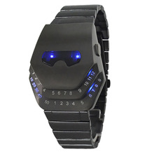 Antique Stainless Steel Women Luxury Men's Digital watch LED Sport Bracelet Square sports Military Watches relogio masculino