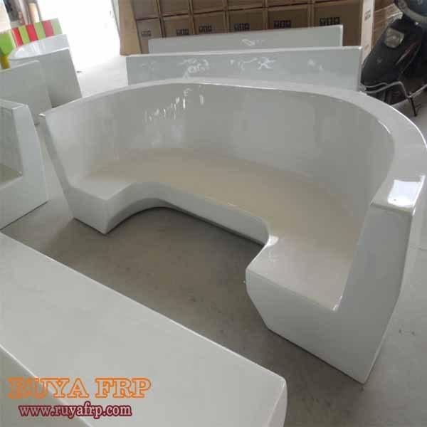 RUYA Full Hand Work Fiberglass Coffee Chair,2.6M Large White Series Eating  Seat Coffee
