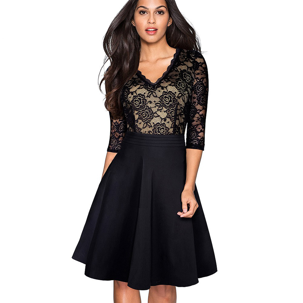 Bayan siyah dantel elbise   ,bayan elbise,online elbise,ucuz elbise,elbise satın al