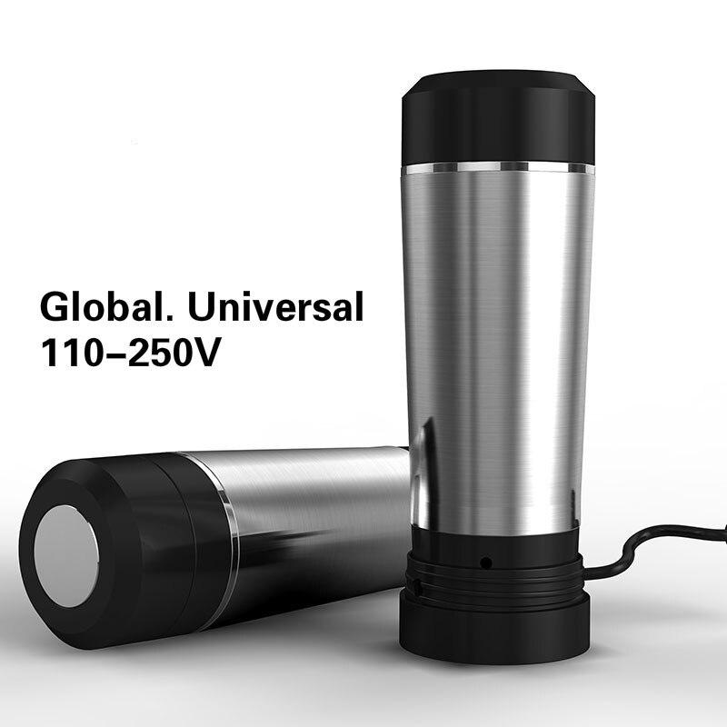 Électrique bouilloire Voyage électrique à l'étranger général portable mini isolation chauffage tasse 304 en acier inoxydable de Sécurité Auto-Off Fonction