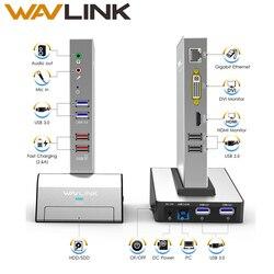 Estación de acoplamiento Universal para portátil USB 3,0 con Base de carcasa HDD y SSD soporte de vídeo Dual HDMI/VGA/DVI a 1152X2048 Gigabit Ethernet