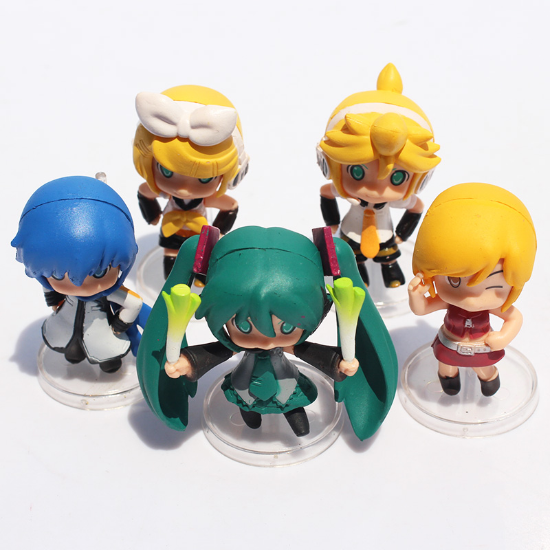 3Styles Optional 6cm Hatsune Miku Toy Figure PVC Nendoroid Petit Vocaloid 10pcs Set Or 5Pcs Free Shipping In Action Figures From Toys