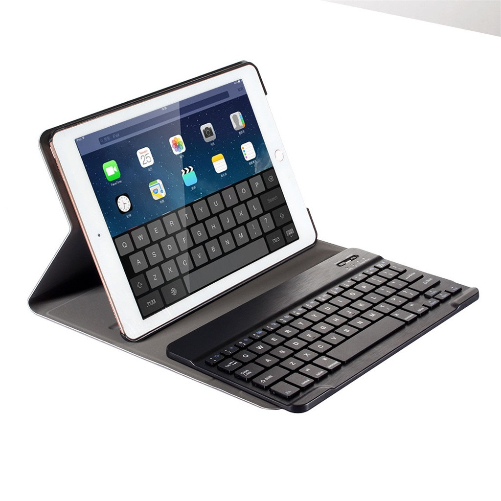 VOBERRY Keyboard Wireless Removable Detachable Bluetooth Keyboard For Ipad 5/6/7/8 Ultra-Thin Leather Case Ipad Case Cover #2