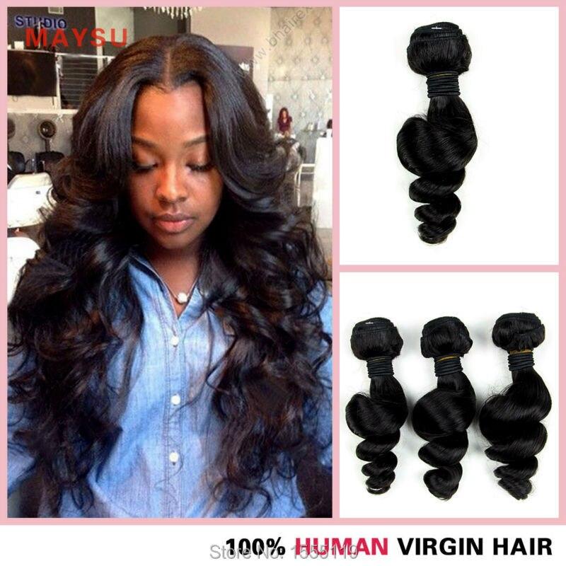 (3 pieces/lot) 6A Malaysian Loose Wave Virgin Hair 8-30 Inch 100% Human Hair Weave Bundles Natural Black No Shedding Tangle Free