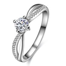 Diamond Engagement Ring for Women 18K White Gold 0.3+0.058ct Natural Diamond Handmade Wedding Jewelry Free DHL Shipping