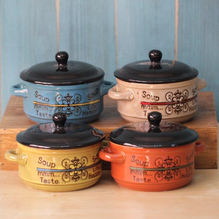 Korean Style Ceramic Tureen With Lid Tableware Creative