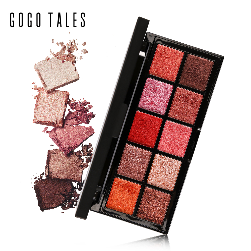 GOGO TALES 10 Colors Mineral Eyeshadow Palette Naked Smoky Eye Shadow Powder Warm <font><b>Nude</b></font> Matte Shimmer Eyeshadow Contour Cosmetics