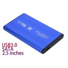 Синий 2,5 «дюймовый внешний защитный корпус мобильный корпус для жесткого диска корпус USB 3,0 для SATA HDD жесткий диск для резервного копирования данных Windows/Mac OS