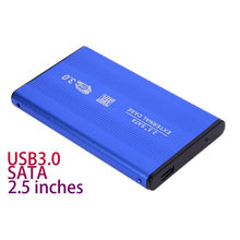 Azul 2,5 pulgadas carcasa externa carcasa móvil HDD carcasa USB 3,0 a SATA HDD disco duro para copia de seguridad de datos Windows/Mac OS(China)