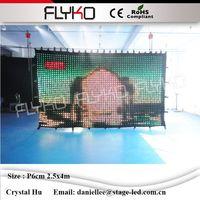 Sd карты от линии контроллер led vision Шторы, светодиодные видение ткань, светодиодный Шторы Свадебные backfdrops p60mm 2.5x4 м фонов стены