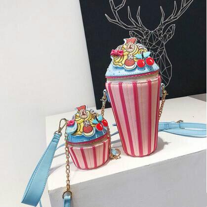 2018 Новинка; Лидер продаж Милые Кекс сумка конфеты фрукты Форма торт цепи ведро мешок мини Crossbody сумки для Для женщин клатч кошелек