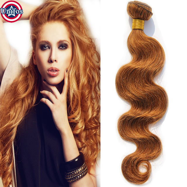Single Bundle Brazilian Hair Weave Colour 30 Light Auburn Human